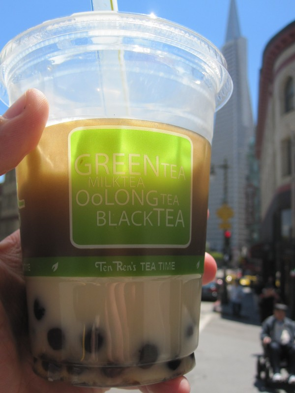 Green bubble tea