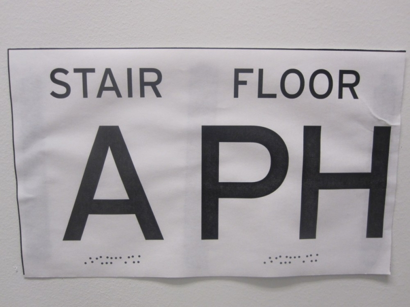 Braille sign print