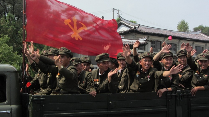 A military parade in Pyongyang