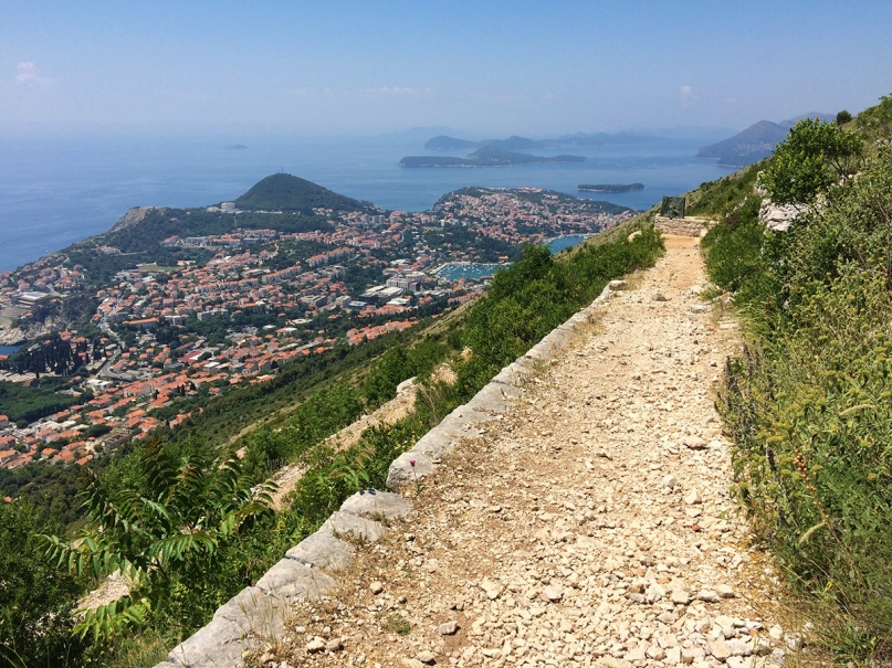 Hike Dubrovnik hill view