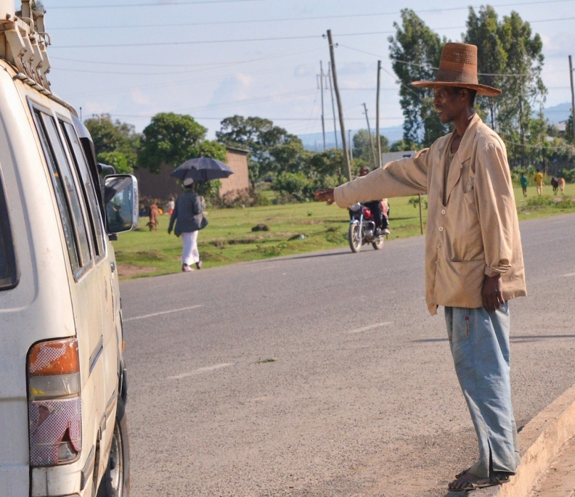 Hitchhiker in Ethiopia