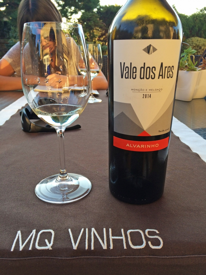 The Vale dos Ares Alvarinho wine which we were able to taste.