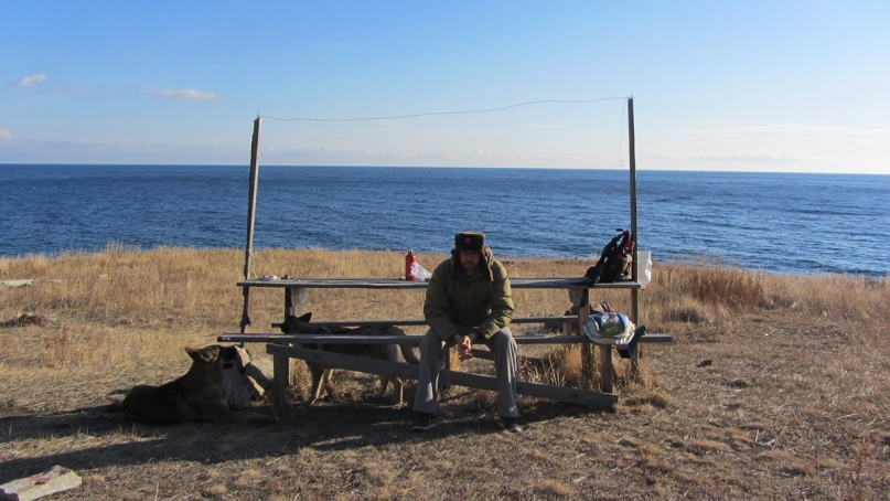 Lake Baikal hike bench