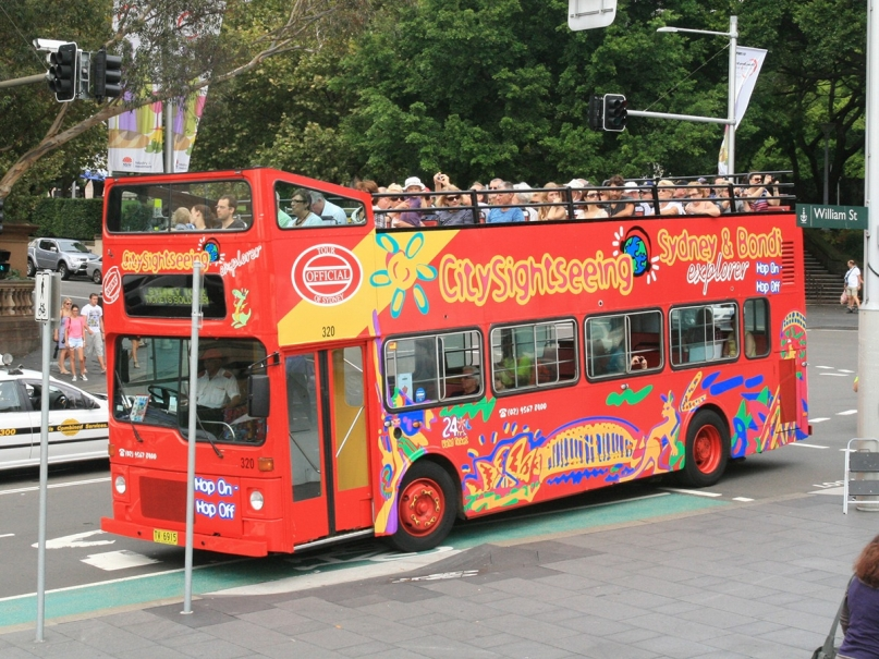 Tourist sightseeing bus